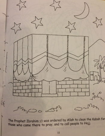 Goodword Kidz Kaaba Coloring Page