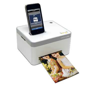 The Sharper Image iPhone Photo Cube Printer