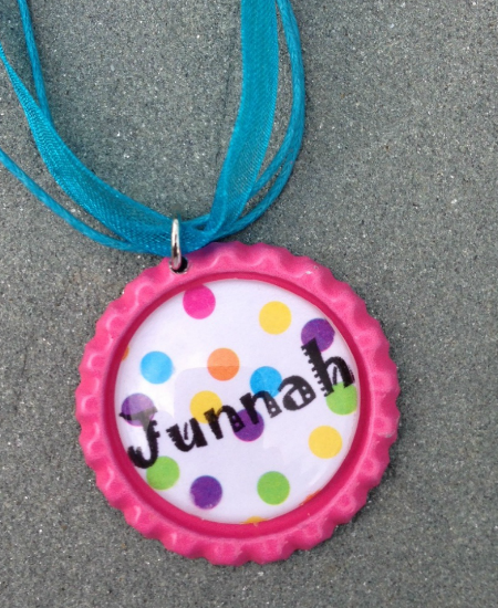 Bottle Cap Name Necklace $6