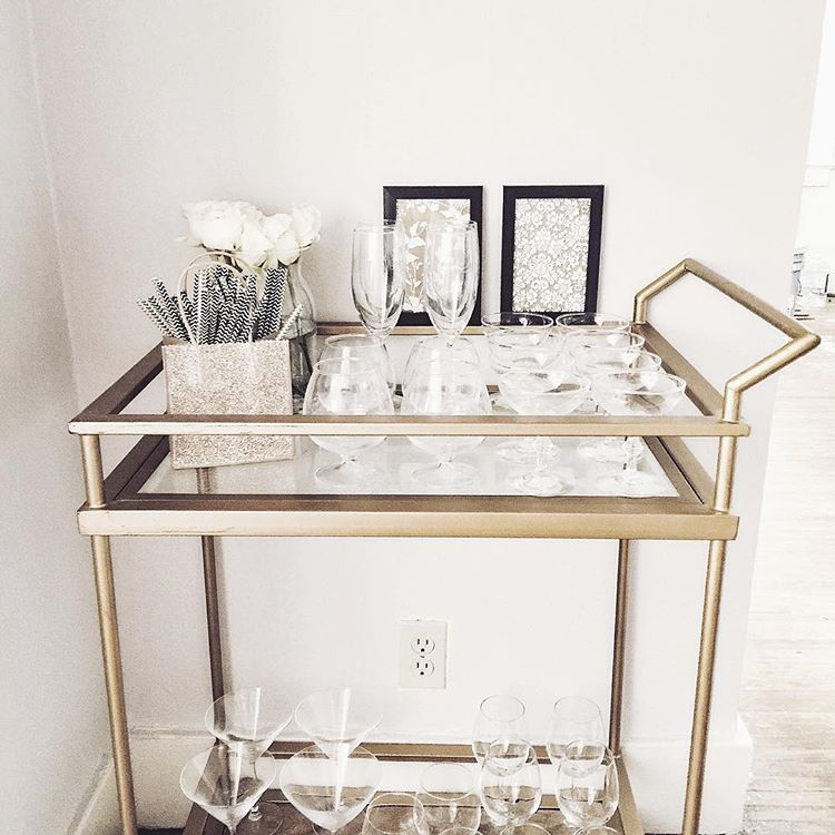 Simple Glasses Bar Cart