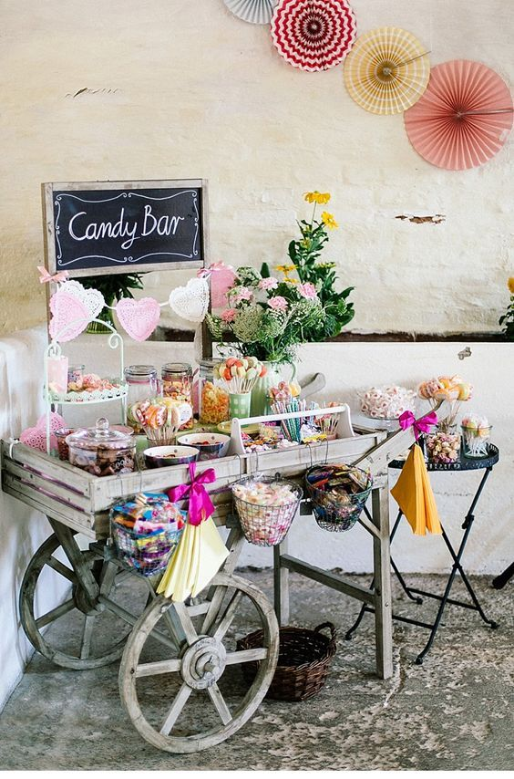 Candy Bar Cart