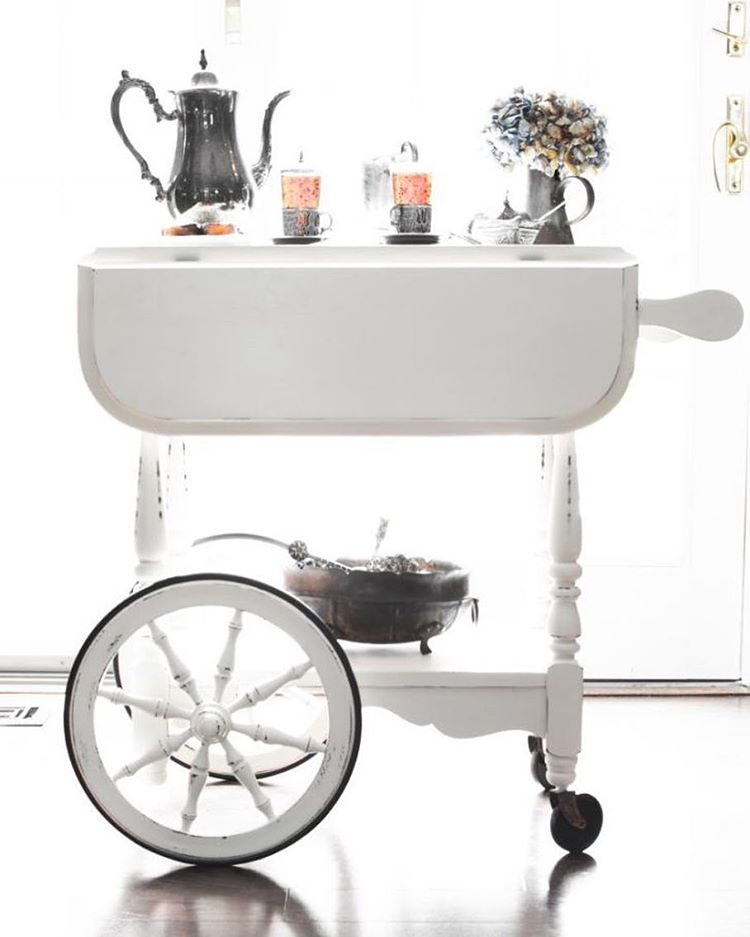 Hot chocolate coffee tea bar cart